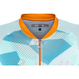 Castelli Climber's Jersey Damen sky blue/orange fluo